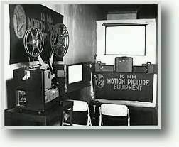 16mm projector on display in 1950s