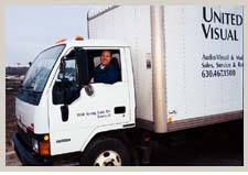 United Visual has a fleet of trucks serving the entire Chicago area