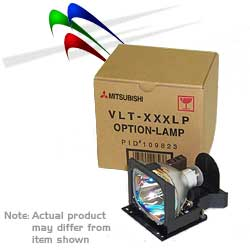 Mitsubishi VLT-XD205LP replacement lamp module for XD205U or SD205U projector.